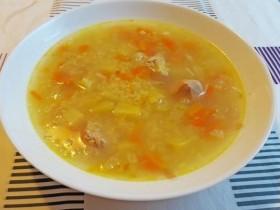 Суп из индейки с пшеном